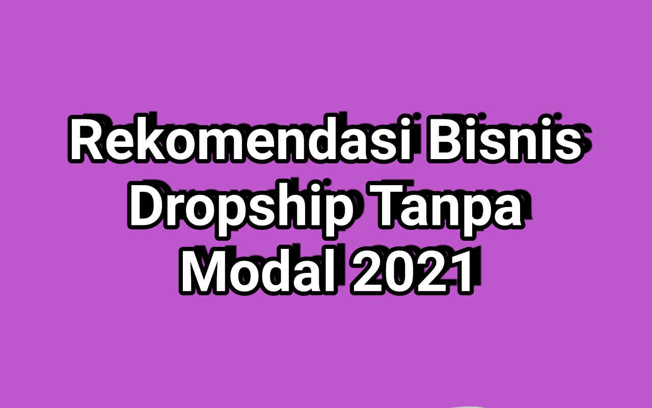 Rekomendasi Bisnis Dropship Tanpa Modal 2021