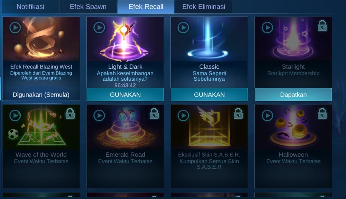 2 Cara Mengganti Efek Recall Mobile Legends 2021 Terbaru