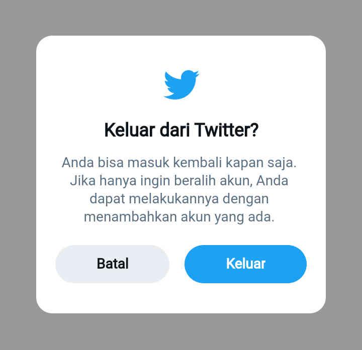 3 Cara Keluar Dari Twitter Melalui Android, Mudah Dan Cepat