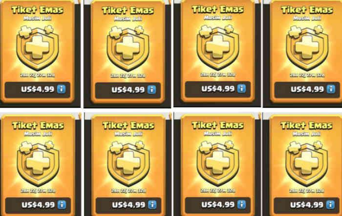 5 Cara Mendapatkan Tiket Emas COC, Langsung Dapat Banyak