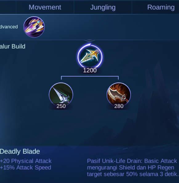 Inilah Fungsi Kegunaan Deadly Blade ML Yang Harus Kamu Tahu