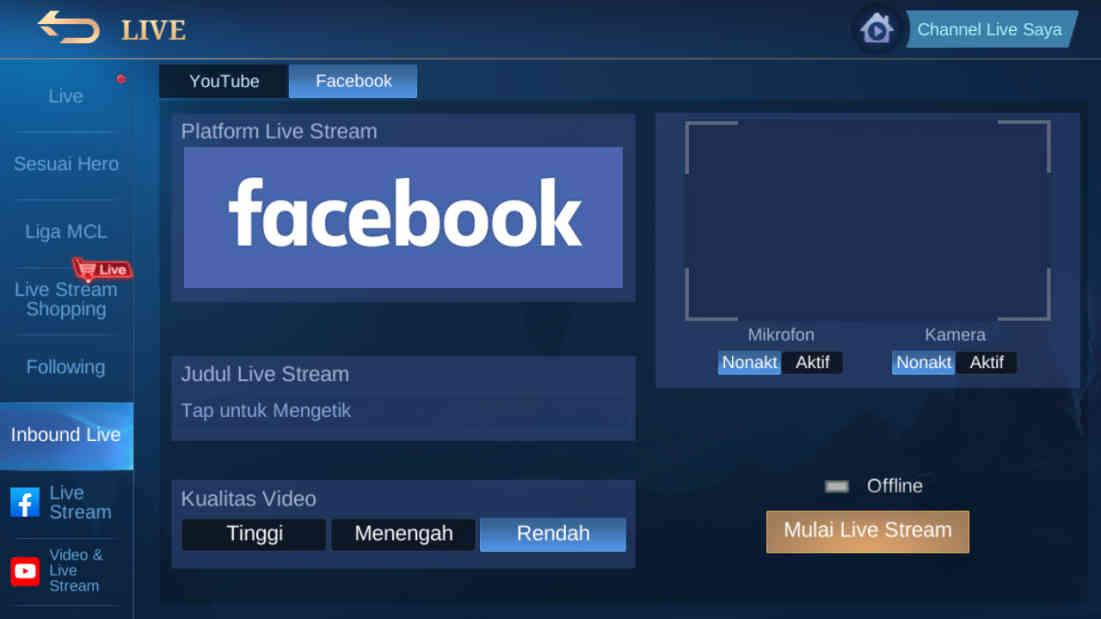 10 Cara Live Streaming Mobile Legend Di Facebook 2021, Auto Aktif